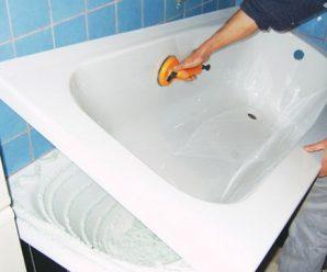 Как установить акриловый вкладыш в ванну, реставрация чаши