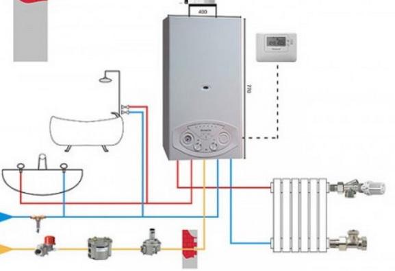 Проточная схема нагрева воды
