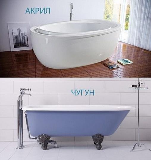 Ванна чугунная или акриловая