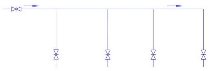 Последовательная схема труб