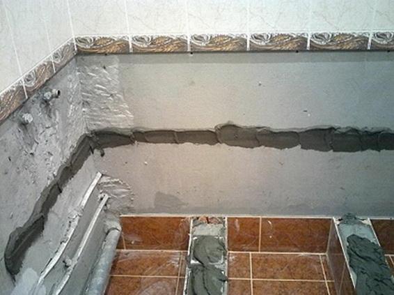 Подготовка места к устанвке ванны