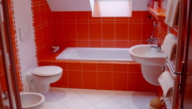 Ванна в красном стиле
