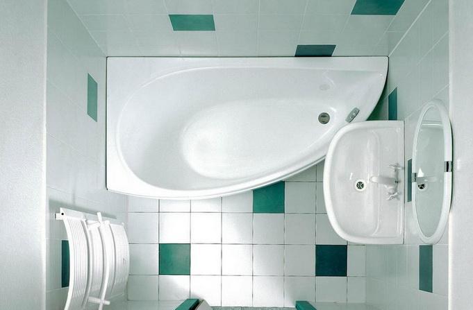 Как выглядит ванна в углу