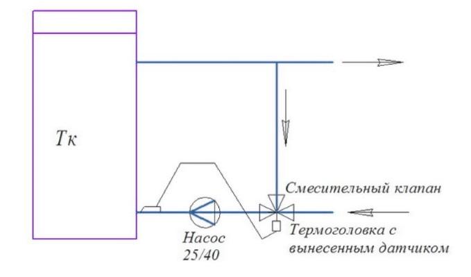 Схема включения котла