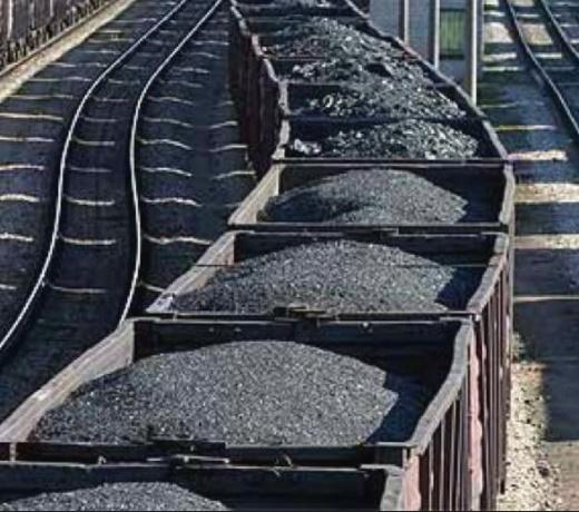 Поставка угля в вагонах