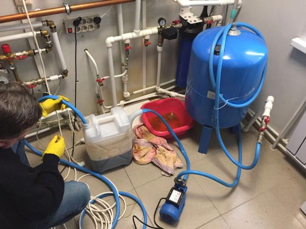 Заливка системы отопления