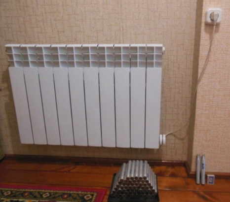 Автоматизированный тен в радиаторе