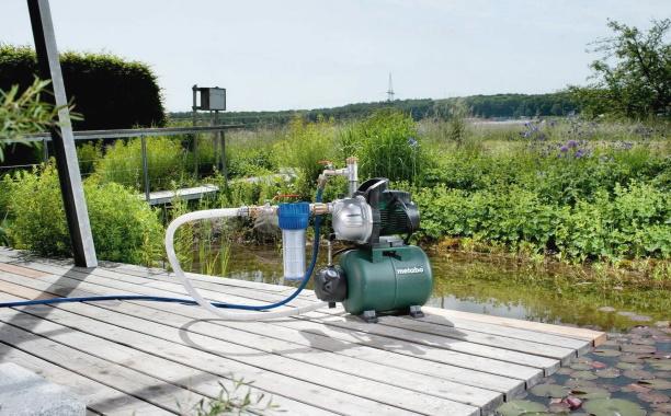 поверхностный насос и водопровод