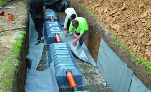 Обустройство дренажного тоннеля