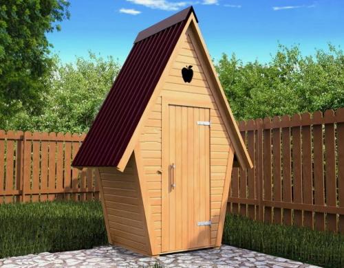 Типовая конструкция дачного туалета