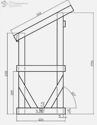 схема дачного туалета