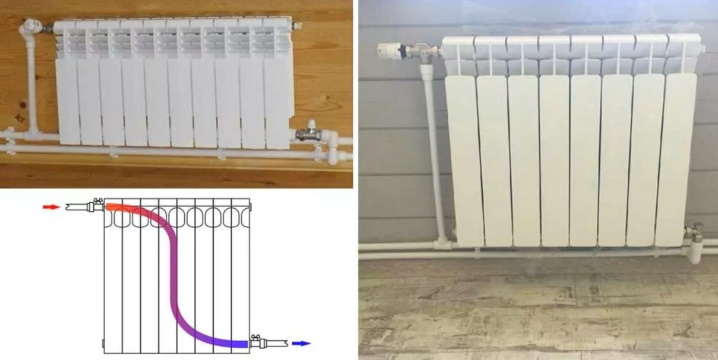 Диагональное подключение радиаторов