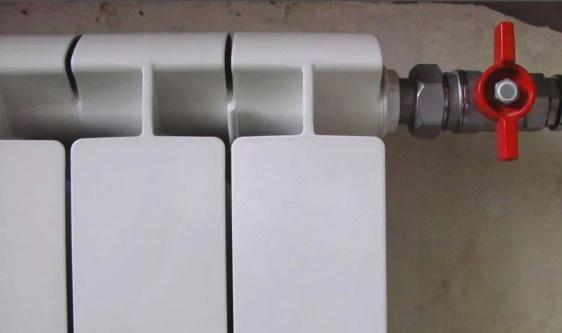 Шаровый кран на радиаторе