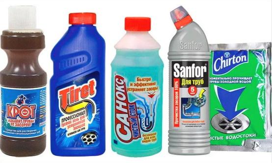 химия для очистки унитаза