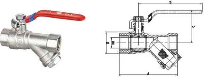 кран с отстойником и фильром